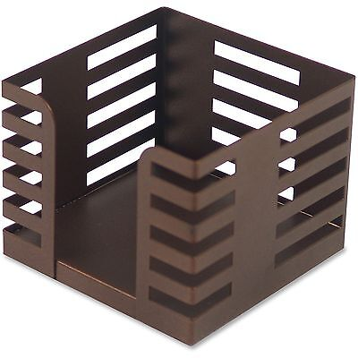 Lorell Memo Holder Holds 3x3 Notes Steel Bronze 84252