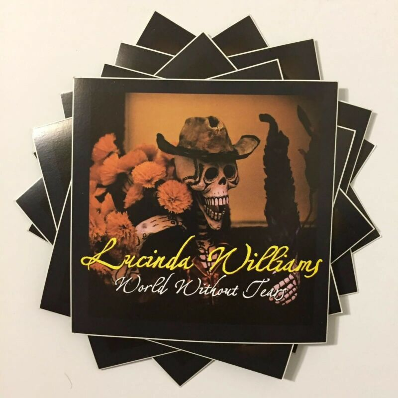 Lot Of 8 Lucinda Williams World Without Tears Promo Stickers Decals 2003