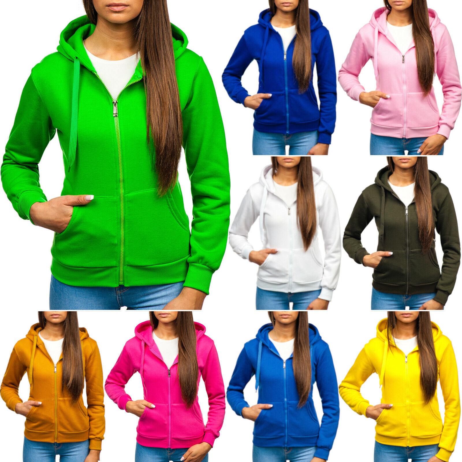 Kapuzenpullover Sweatshirt Hoodie Sweatjacke Unifarben Damen BOLF A1A Classic