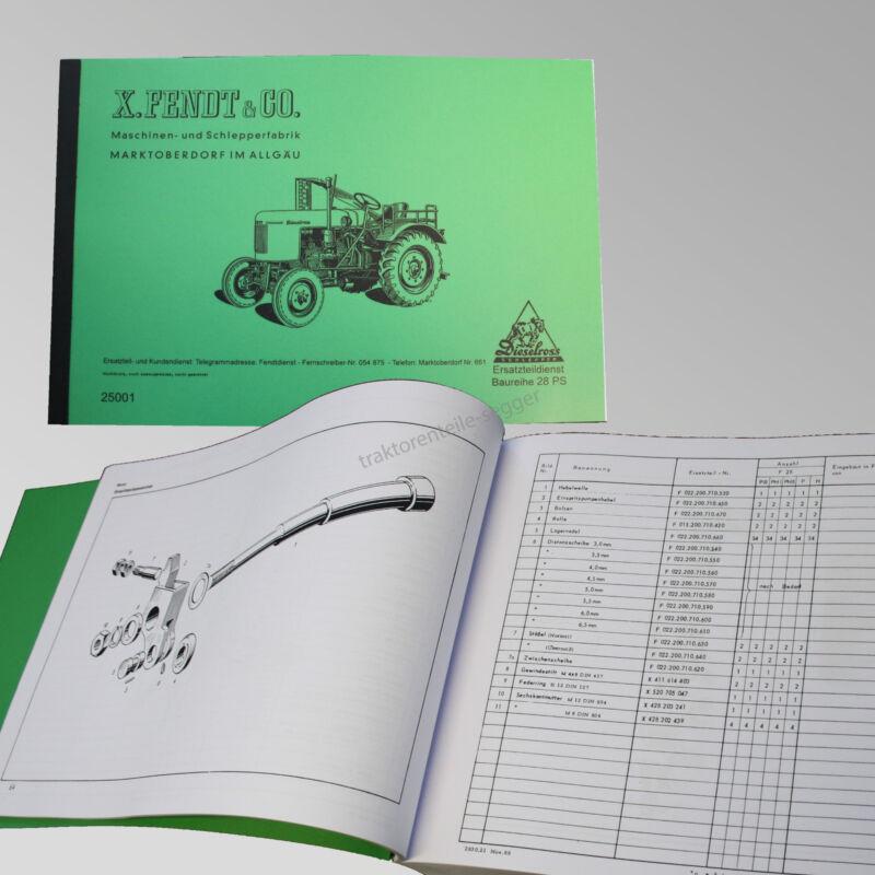 Fendt Ersatzteilliste für Dieselross F25 / F 28 Traktor Schlepper 25001 Foto 1