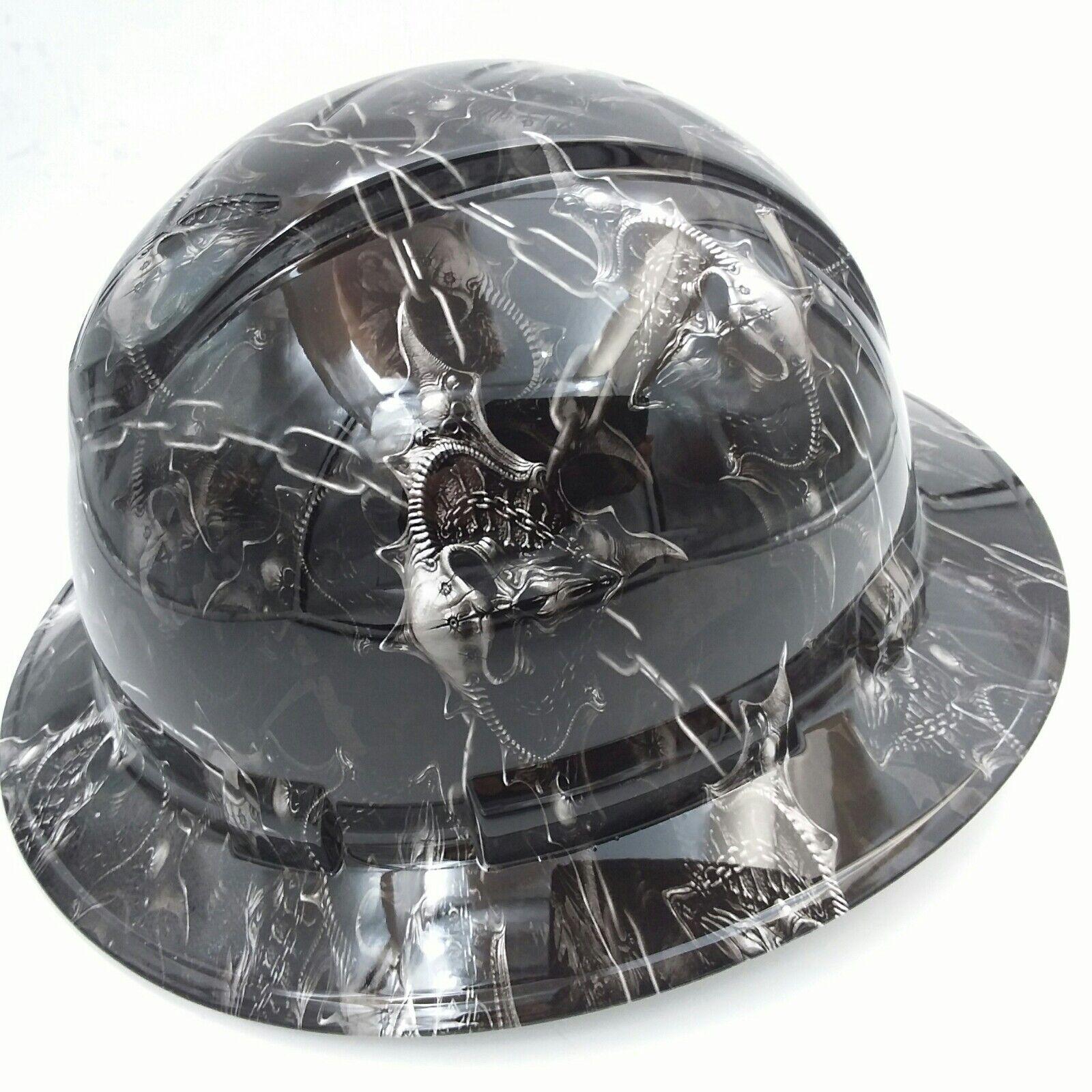 Hard Hat custom hydro dipped , OSHA approved HELL RAISER SKULLS !!!NEW!!!! 1