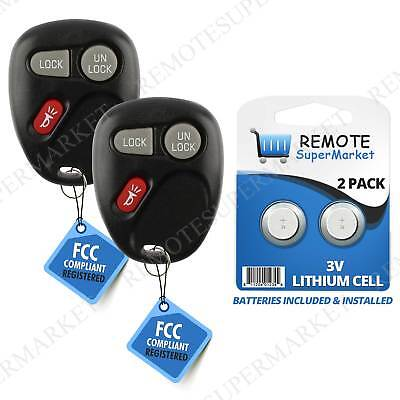 Replacement for Chevy S10 Suburban Tahoe Remote Car Keyless Entry Key Fob Pair