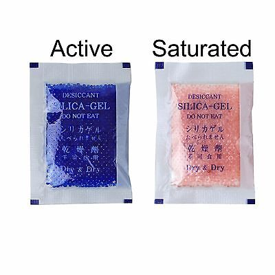 27 Packs10 Gram Dry Dry Blue Indicating Silica Gel Packets - Reusable