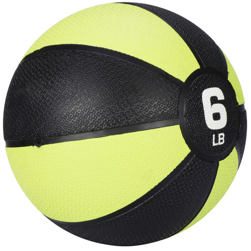 Body Sport Exercise  Medicine Ball for Home Gym Balance Stability Pilates 6lb