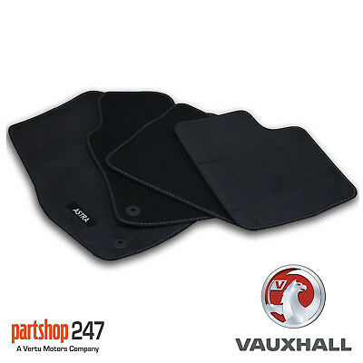 Car Parts - GENUINE VAUXHALL ASTRA H MK5 HATCH TAILORED BLACK VELOUR FRONT/REAR CAR MATS