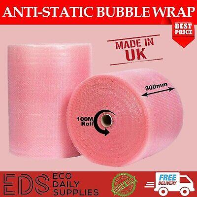 Anti-Static Bubble Wrap-Small Bubbles -100m Rolls x 300mm Width- Cheapest online