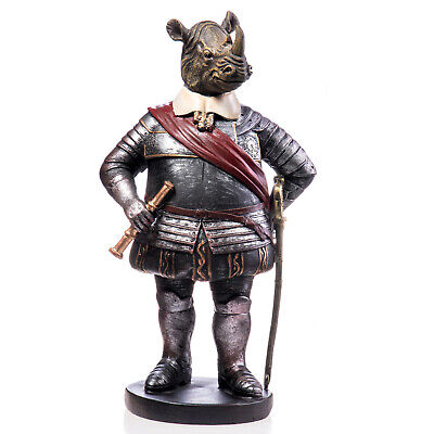 Figur Skulptur Nashorn im Kostüm Shabby Styl NEW - Skulptur Kostüm