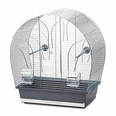 Bird Cage Tina Chrome Grey Birdcage for Parakeets