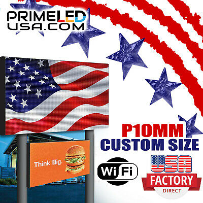 Wifi Led Sign P10 Full Color Indooroutdoor Text Photo Video 12.5 X 37.75
