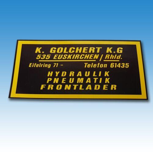 Golchert Firmen Aufkleber 015250 Foto 1