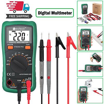 Trms Digital Multimeter Acdc Current Voltage Resistance Meter Tester 2000counts