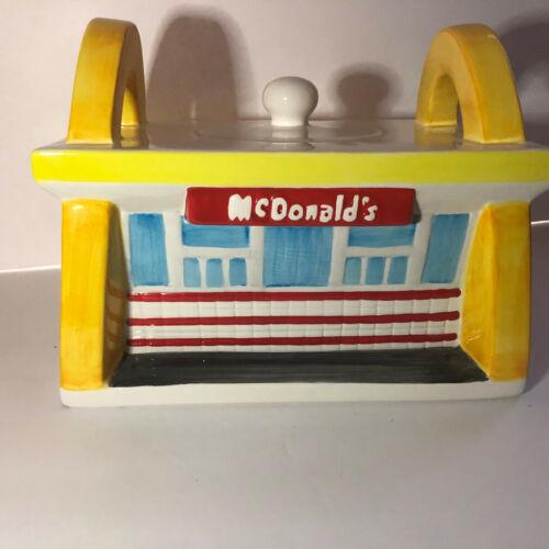 McDonalds Cookie Jar Golden Arches Treasure Craft 1997 Diner Restaurant