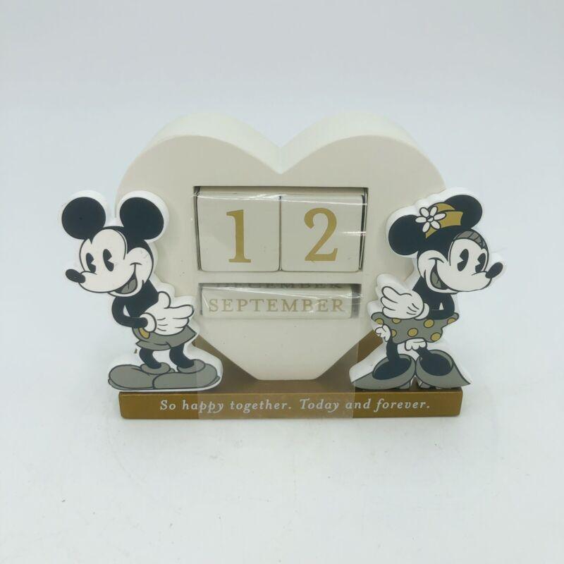Hallmark Disney Mickey and Minnie Happy Together Perpetual Calendar New