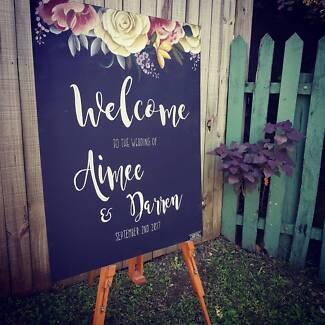 Wedding signs chalkboards chalkboard artist chalkboard sign