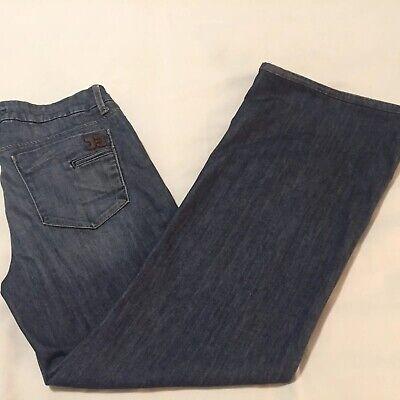 Joes Flat Front Jeans - Joes Jeans Womens Wide Leg Flare Jeans Flat Front Dark Wash Sz 30