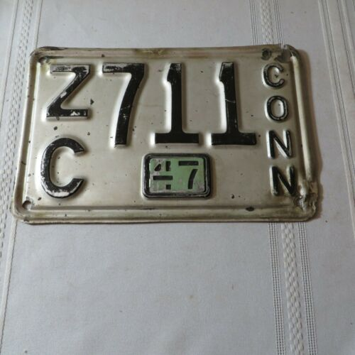 1947 CONNECTICUT LICENSE PLATE ZC-711