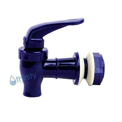 """Replacement Water Faucet Spigot Dispenser 3/4"""" Valve Bottle Jug Crock BLUE New"""