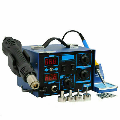 Usa 2in1 Smd Rework Soldering Station Hot Air Gun And Soldering Iron Separately