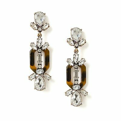 Hot Selling Byzantine Faux Tortoise Crystal Water Drop Statement Earrings