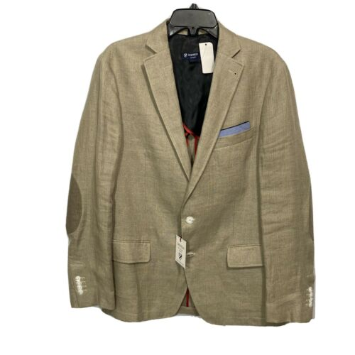 $250 CREMIEUX Off Duty Blazer Sport Coat Jacket XL Chino Khaki Elbow Patches Clothing, Shoes & Accessories
