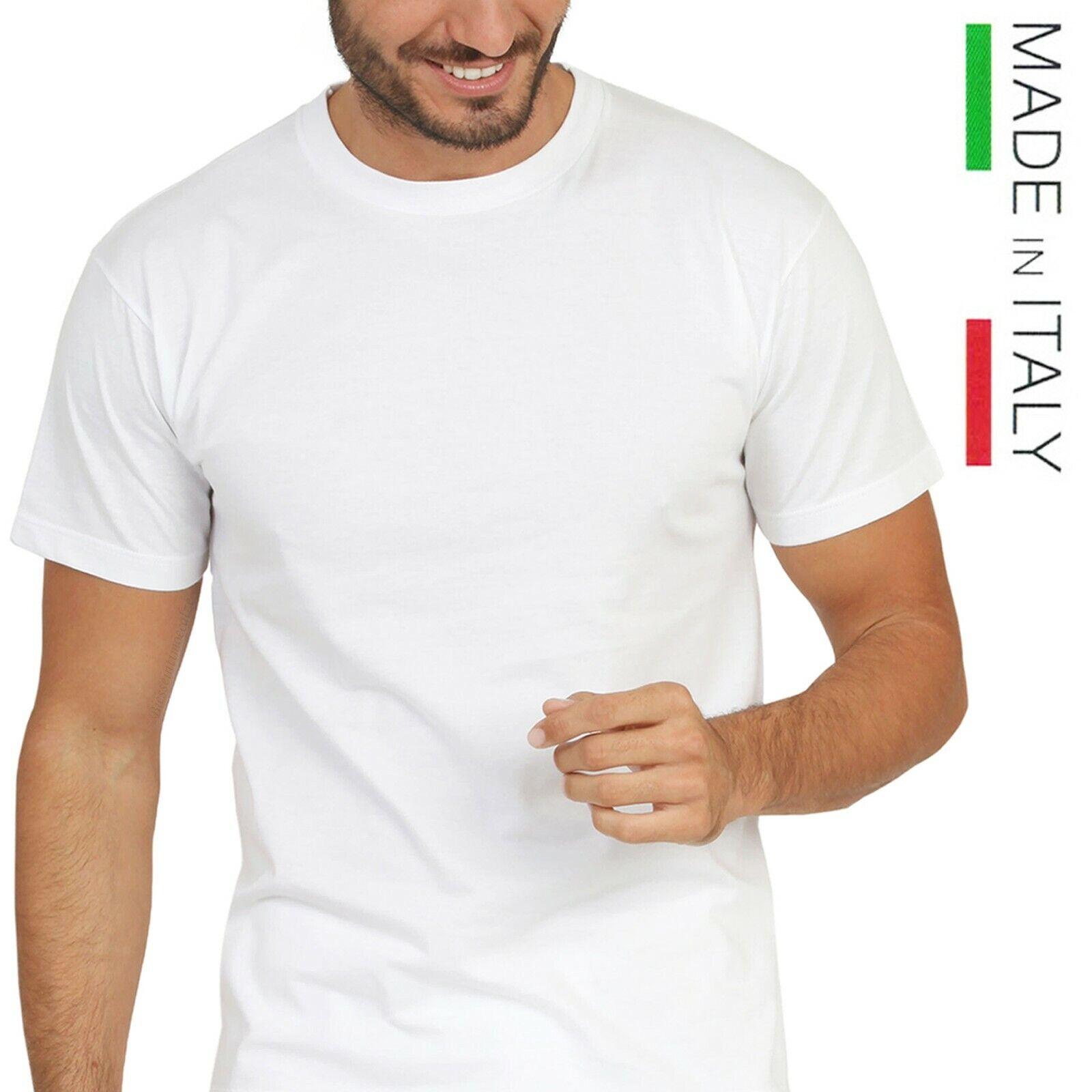 Maglia intima da uomo 100% puro cotone maglietta mezza manica corta girocollo