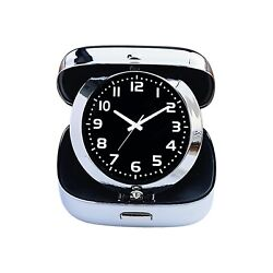 12 Travel Alarm Clock (Folds), Stainless Steel Office Executive Gifts or Party F