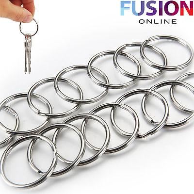 (Steel Keyring Split Key Rings 25Mm Nickel Hoop Ring Nickel Plated Steel Loop)