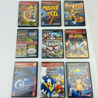 Lot of 9 PlayStation 2 PS2 Games Lego Star Wars Sonic Pac Man World & More
