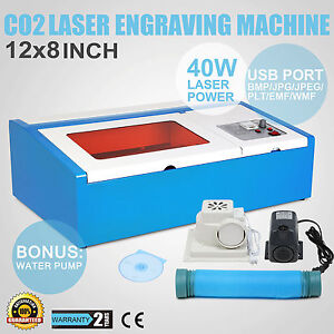 CO2 laser graviermaschine 40W cutting tool w/ USB port engraver Cutter