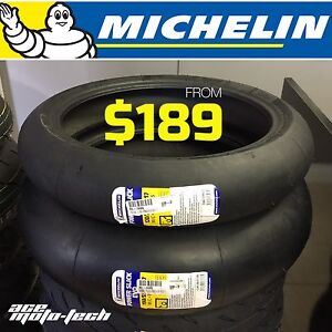 ★★ NEW Michelin POWER SLICK EVO Motorcycle Tires ★★ Track Race