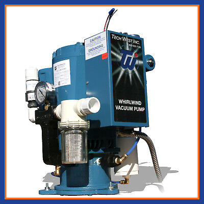 Tech West Dental Whirlwind Liquid Wet Ring Single Vacuum Pump 4 User Pn Vpl4s2