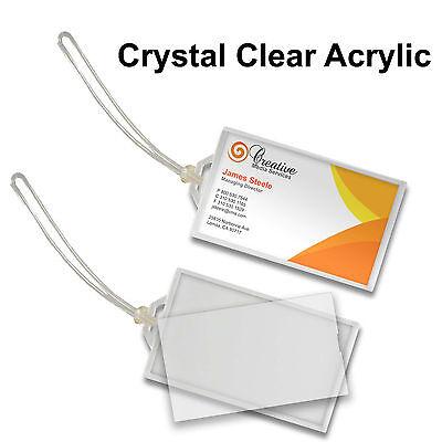 Acrylic Luggage Tag Key Chain Snap-in Clear #LT70-Clear# Clear Acrylic Key Tag