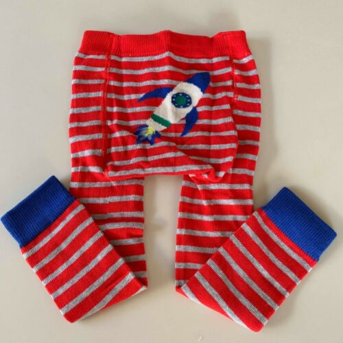 """Mini Boden Baby Boys """"KNITTED ROCKET LEGGINGS""""  6-12 months, So Comfy and Warm!"""