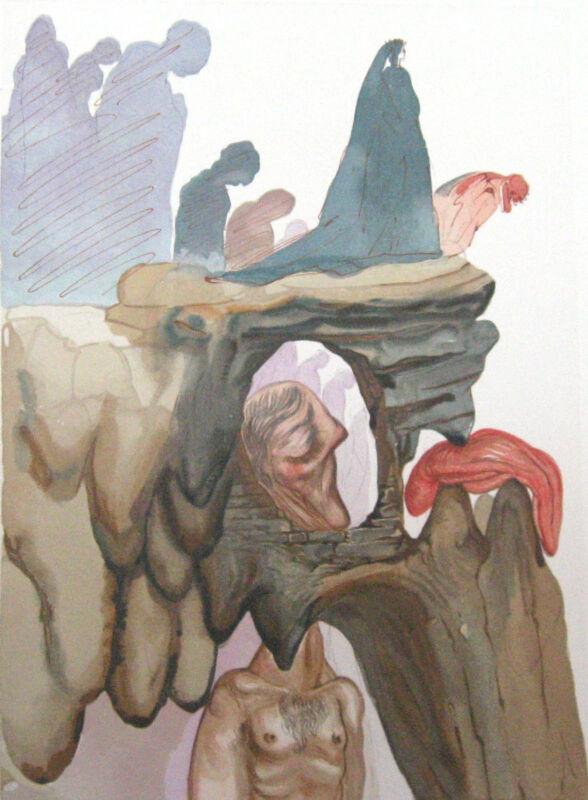Salvador Dali The Divine Comedy Inferno #22  Woodblock Fine Art Print Make Offer