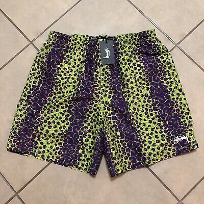 STUSSY LEOPARD WATER BOARD SHORT LIME SIZE XL NEW WITH TAGS