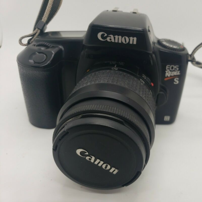 Canon EOS REBEL S II Film Camera 35-80mm Lens and Strap