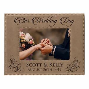 Personalized 5 x 7 Picture Frame for Wedding Party - Custom Bridesmaid Groomsmen