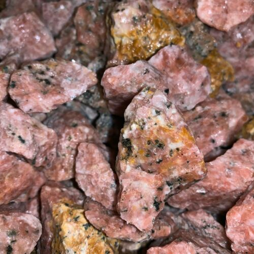 500 Carat Lots of Unsearched Strawberry Calcite Rough+ FREE faceted gemstone