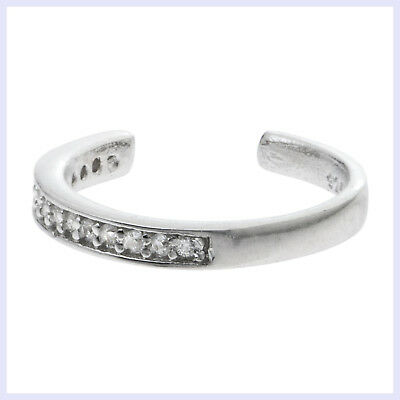 - Rhodium on 925 Sterling Silver Round Ring Clear CZ Crystal Clip Ear Cuff Earring