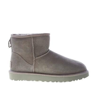 UGG scarpe donna Stivaletto Classic Mini in pelle scamosciata grigio 1016222W