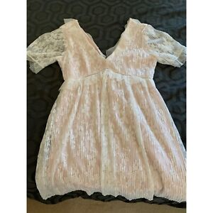 Lace dress pink and white Cottesloe Cottesloe Area Preview