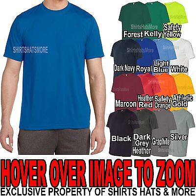 Mens Performance Moisture Wicking Tee Athletic T-Shirt Dry Fit S-XL 2X, 3X, (Mens Performance Tee)