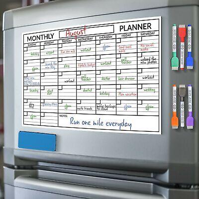 Scribbledo Magnetic Dry Erase Monthly Calendar Planner White Board Sheet For ...