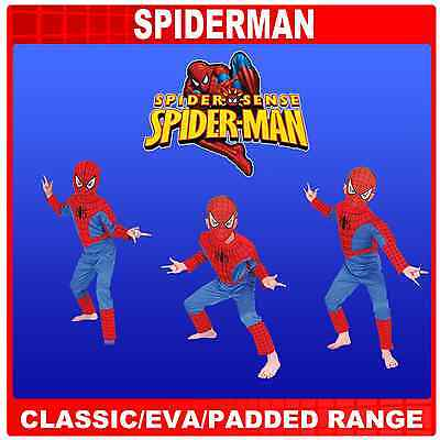 SPIDERMAN SPIDER SENSE CHILD FANCY DRESS COSTUMES 3-8 YRS, CLASSIC, EVA DELUXE
