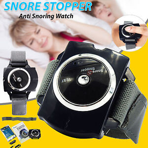 Anti Snore Stopper Wristband Intelligent Device Infrared Stop Snoring Aid UK