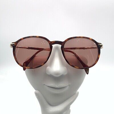 Vintage Gucci GG1261 Tortoise Gold Oval Sunglasses Italy FRAME ONLY
