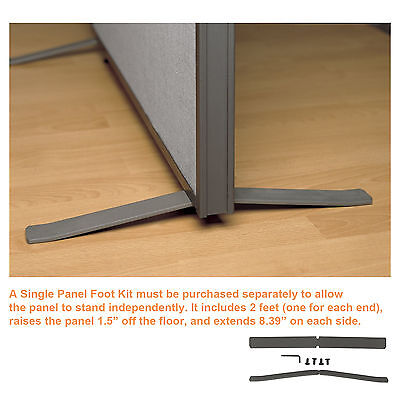 Office Partition Walls - Proseries Foot Kit For Office Divider Panels