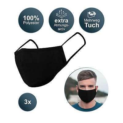 3 Stück Stoffmasken Gesichtsmaske | Nase Mundbedeckung | Behelfsmaske waschbar