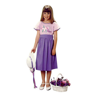 Ariadne Heirlooms Girls Fairy Folk Dress Purple Cotton Embroidery Short Sleeve  - Fairy Girl Dresses