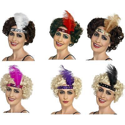 Women's Roaring 20's Flapper Feather Gatsby Headband Fancy Dress - Roaring 20's Women's Kostüm